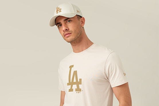 LA Dodgers Stone T-Shirt and 9FORTY Cap