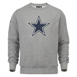 Dallas Cowboys Team Logo Grey Crew Neck