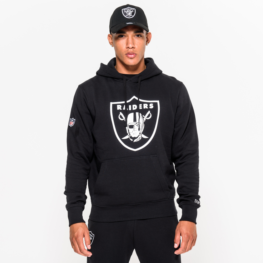 Oakland Raiders Pullover Team Logo Black Hoodie | New Era