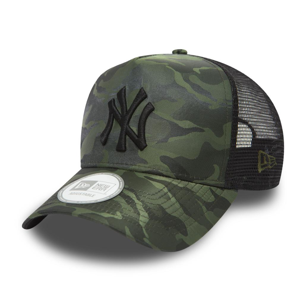 ... NY Yankees Nylon Camo A Frame Trucker 03fdee7ab33b