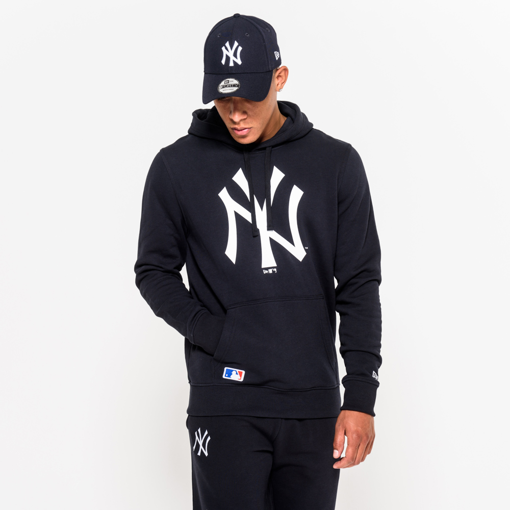 NY Yankees Navy Pullover Hoodie  701a6a0669d