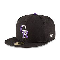 Colorado Rockies Authentic On-Field Game Black 59FIFTY