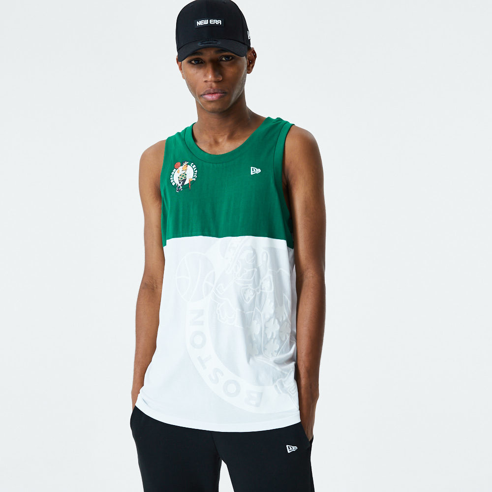 Boston Celtics Colour Block Logo White Vest