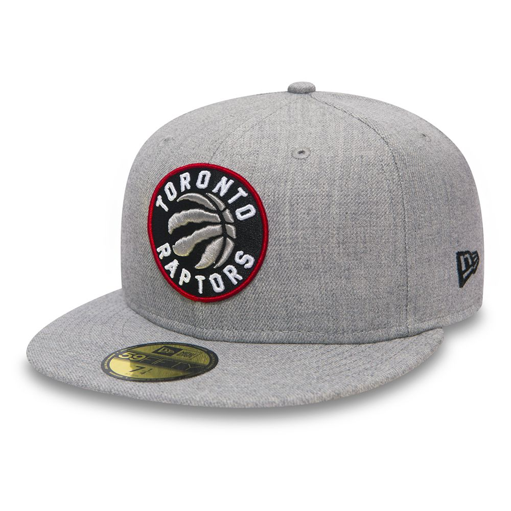 Toronto Raptors Heather Grey 59FIFTY a2cd3ccf6be
