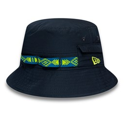 New Era Woven Tape Navy Bucket