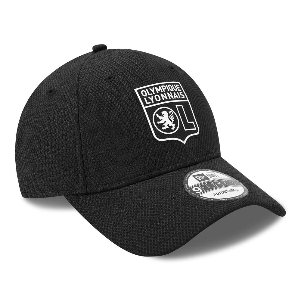 Olympique Lyon schwarz New Era 9Forty Adjustable Cap