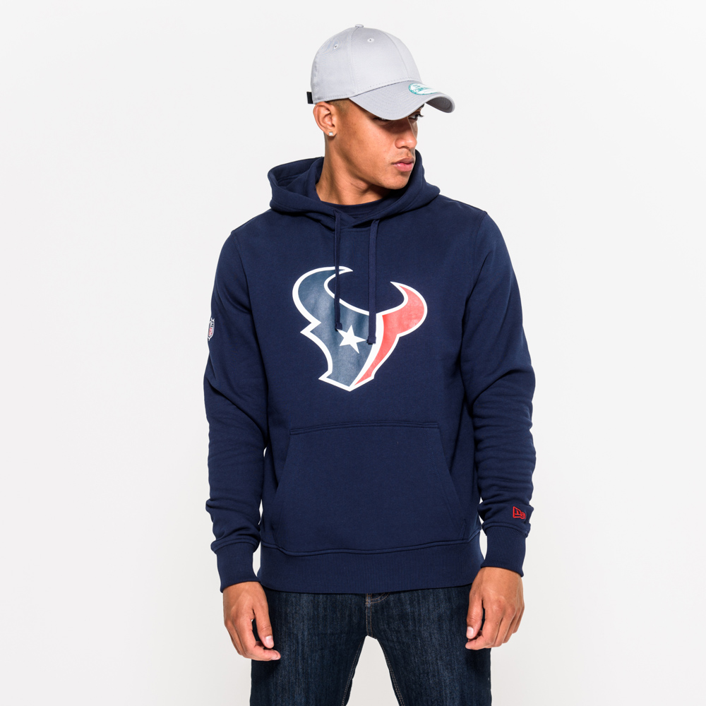 Houston Texans Team Logo Navy Pullover Hoodie