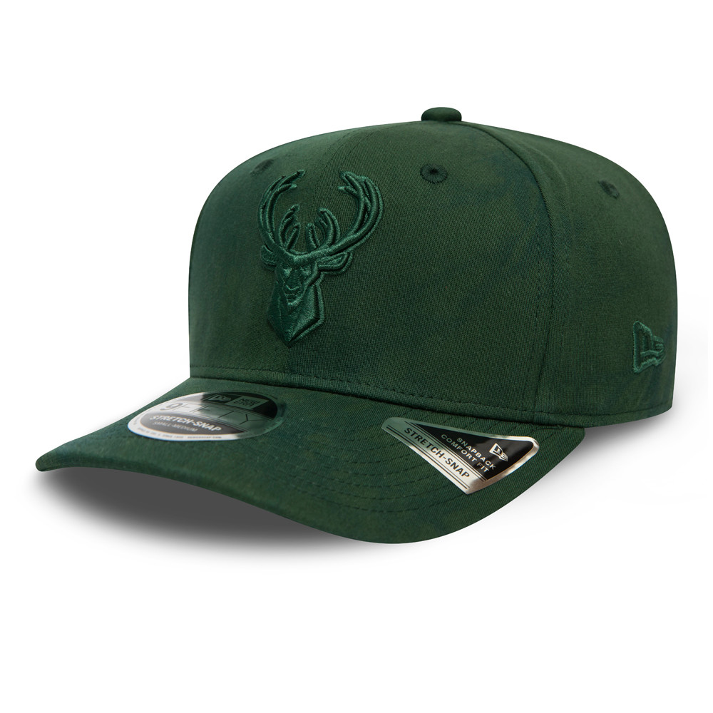 Milwaukee Bucks Tie Dye Green Stretch Snap 9FIFTY Cap