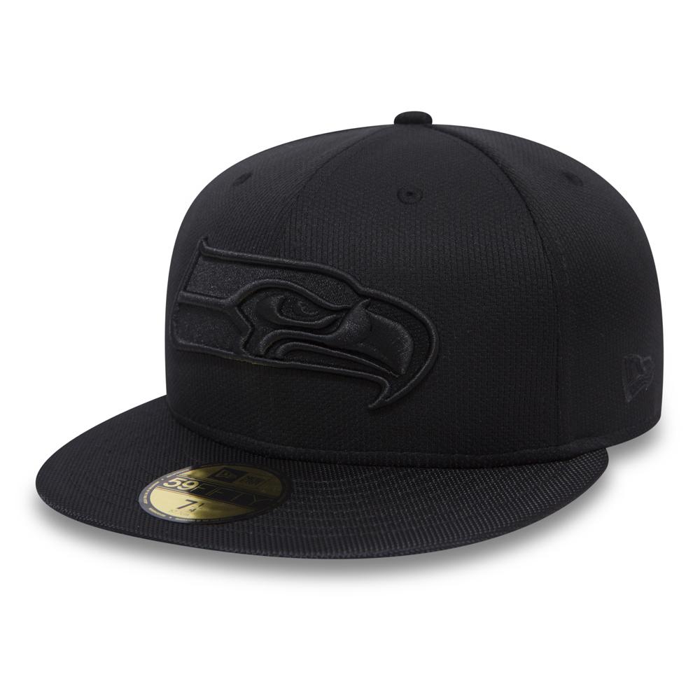 hot sale online 3a28f 3a16f Seattle Seahawks Ballistic Black on Black 59FIFTY