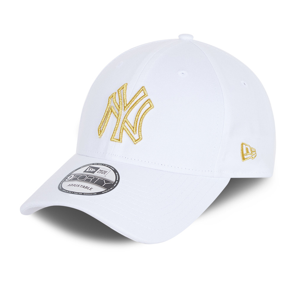 New York Yankees Metallic Logo White 9forty Cap New Era Cap