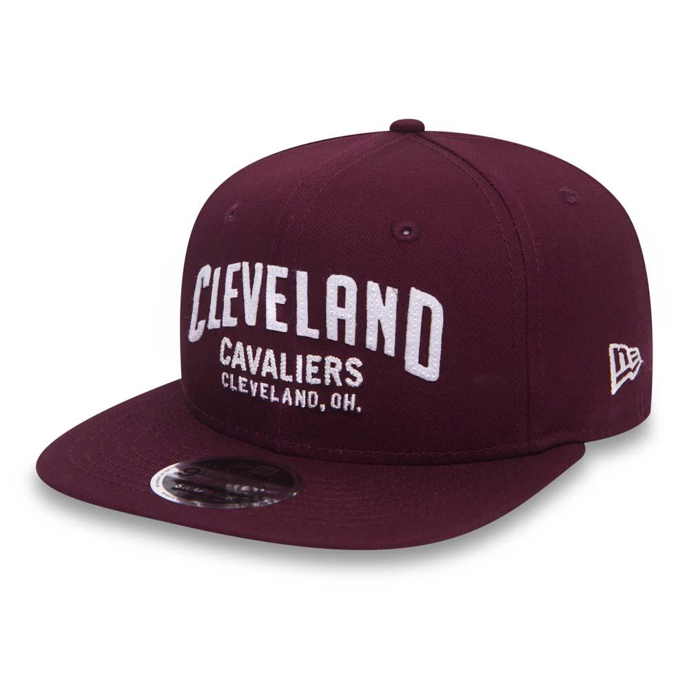 89b719dc6e5 Cleveland Cavaliers Felt Script OF 9FIFTY Maroon Snapback