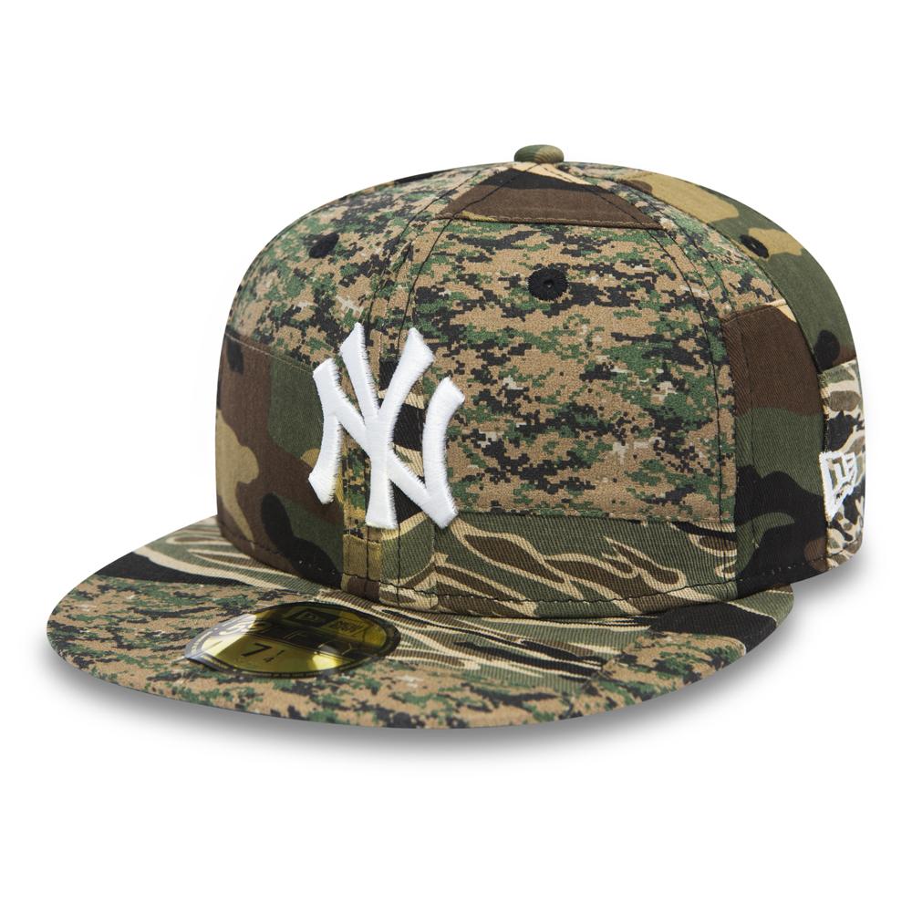 1630bd1ec5d0d NY Yankees Patchwork Camo 59FIFTY