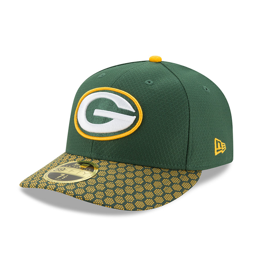 116f6e70f02 Green Bay Packers 2017 Sideline Low Profile Green 59FIFTY