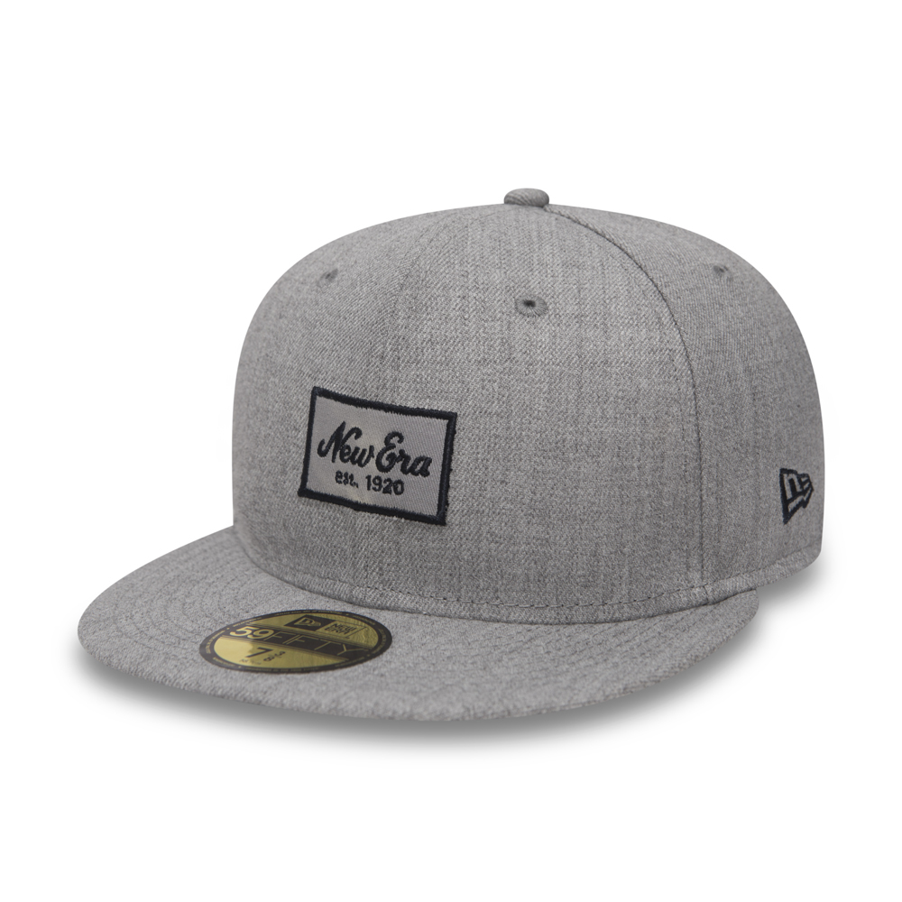 989911a209c New Era Script Heather Grey 59FIFTY