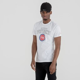 Detroit Pistons Team Logo White Tee