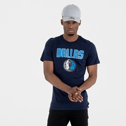 Dallas Mavericks Team Logo Navy Tee