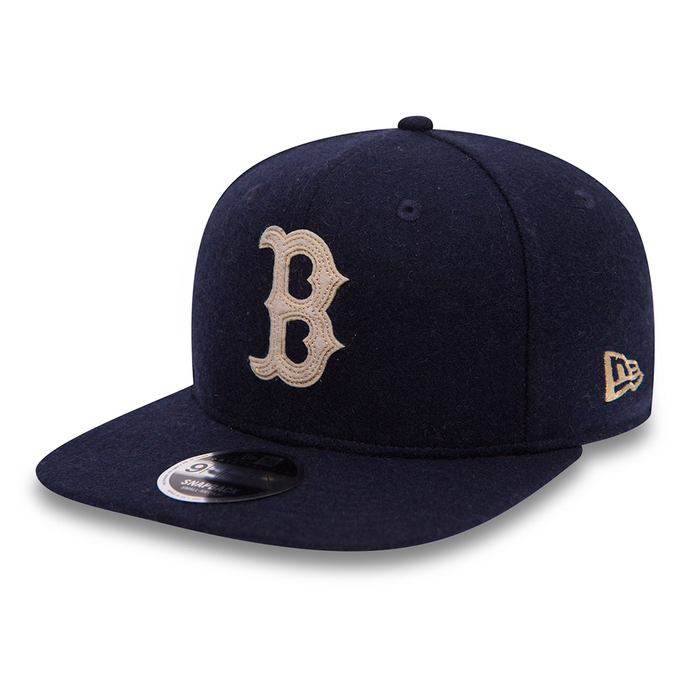 99332a27bf821 ... Boston Red Sox Melton Navy Original Fit 9FIFTY Snapback