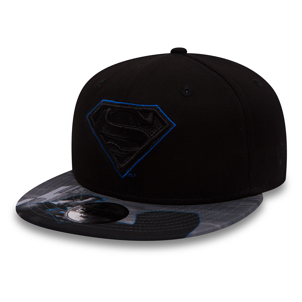 Superman Character Outline Kids Black 9FIFTY