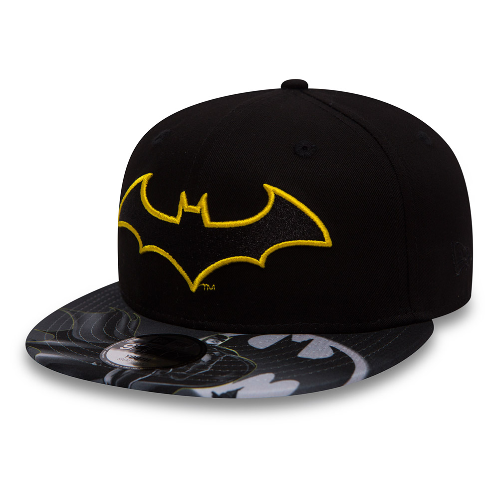 Batman Character Outline Kids Black 9FIFTY