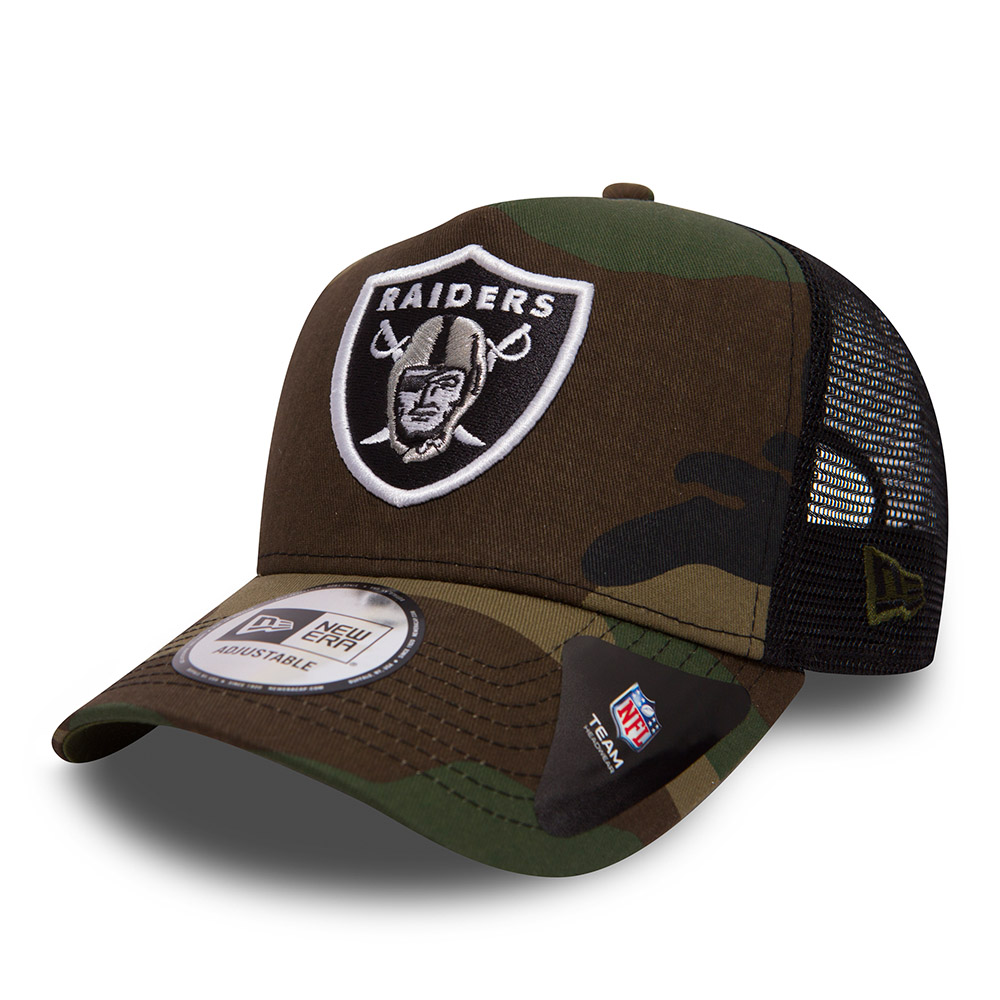 Oakland Raiders Camo Team A Frame Trucker  5a223f075cf3