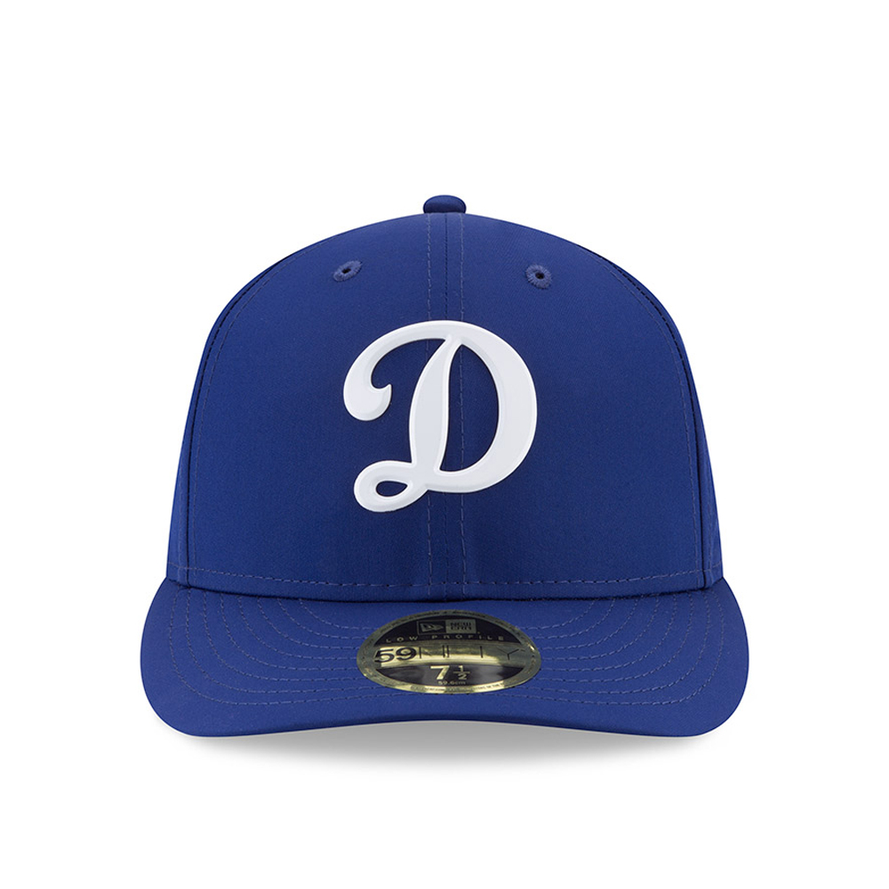 b4911448213 La Dodgers Low Crown Cap - Parchment N Lead