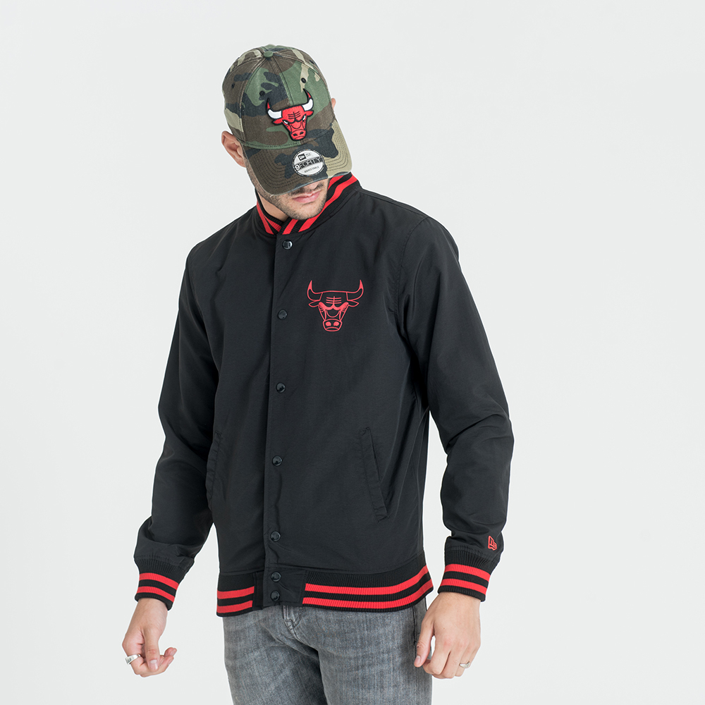 Chicago Bulls Pop Logo Varsity Jacket