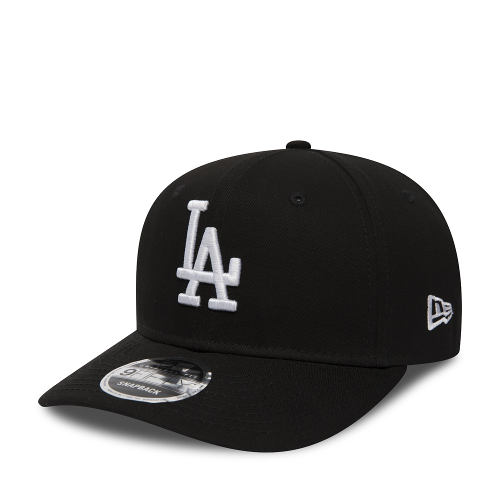 a469162e4324c Los Angeles Dodgers Pre-Curved Black 9FIFTY Snapback