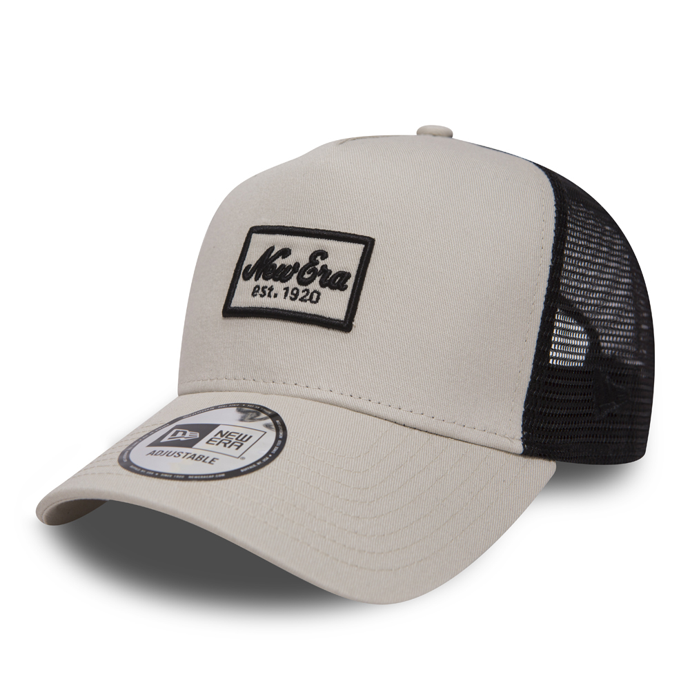 New Era Script Patch Stone A Frame Trucker  e1c9801da9e4