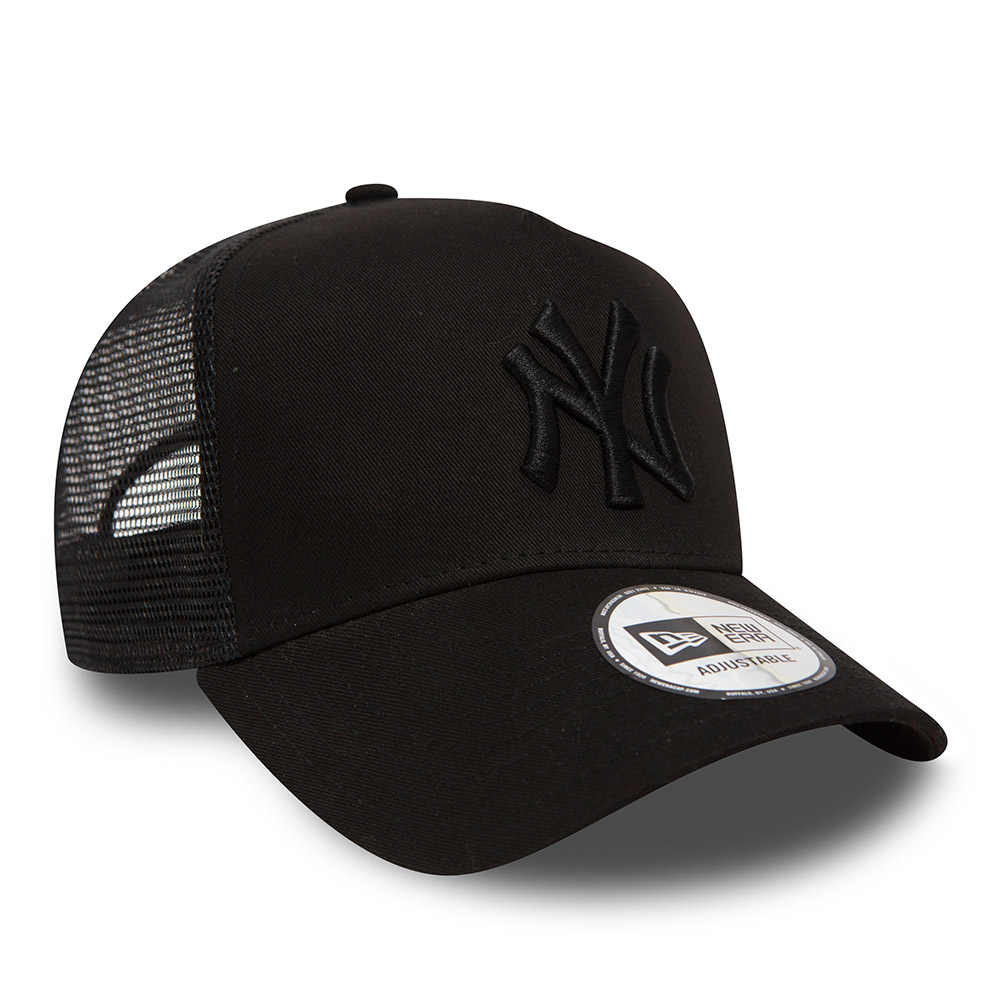 New York Yankees Clean A Frame Black on Black Trucker  a7ed6a555e