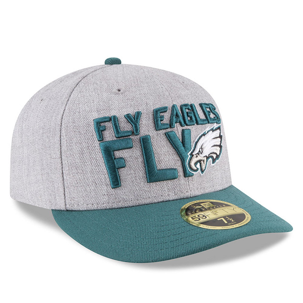 ebc88f367 Philadelphia Eagles 2018 NFL On-Stage Draft Low Profile 59FIFTY ...