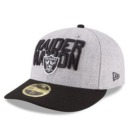 best service ccd65 4c0a8 ... Oakland Raiders 2018 NFL On-Stage Draft Low Profile 59FIFTY