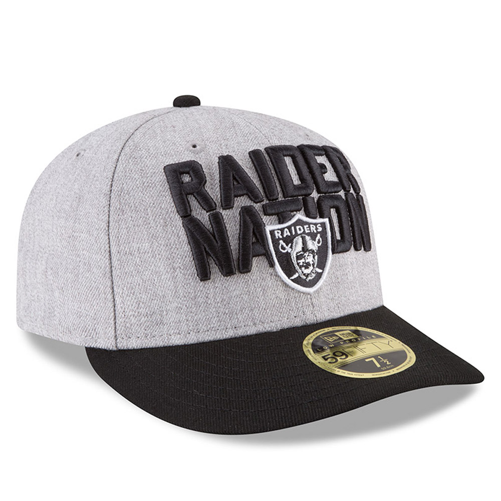 on sale 46500 4940f ... australia oakland raiders 2018 nfl on stage draft low profile 59fifty  1ddd0 acd7e