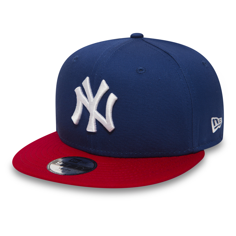 NY Yankees Cotton Block Kids 9FIFTY Blue Snapback  76c310a3732e