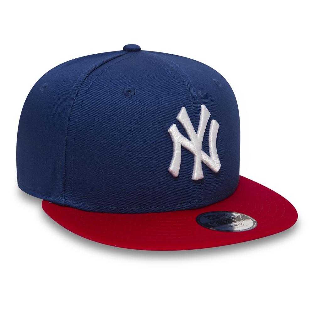 sports shoes 9a316 c9b8c NY Yankees Cotton Block Kids 9FIFTY Blue Snapback