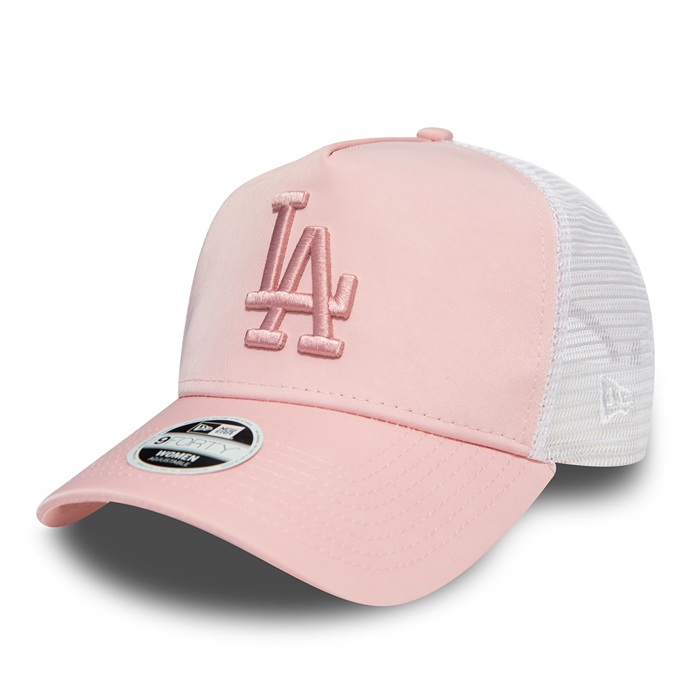 Los Angeles Dodgers Womens Satin Pink A Frame Trucker