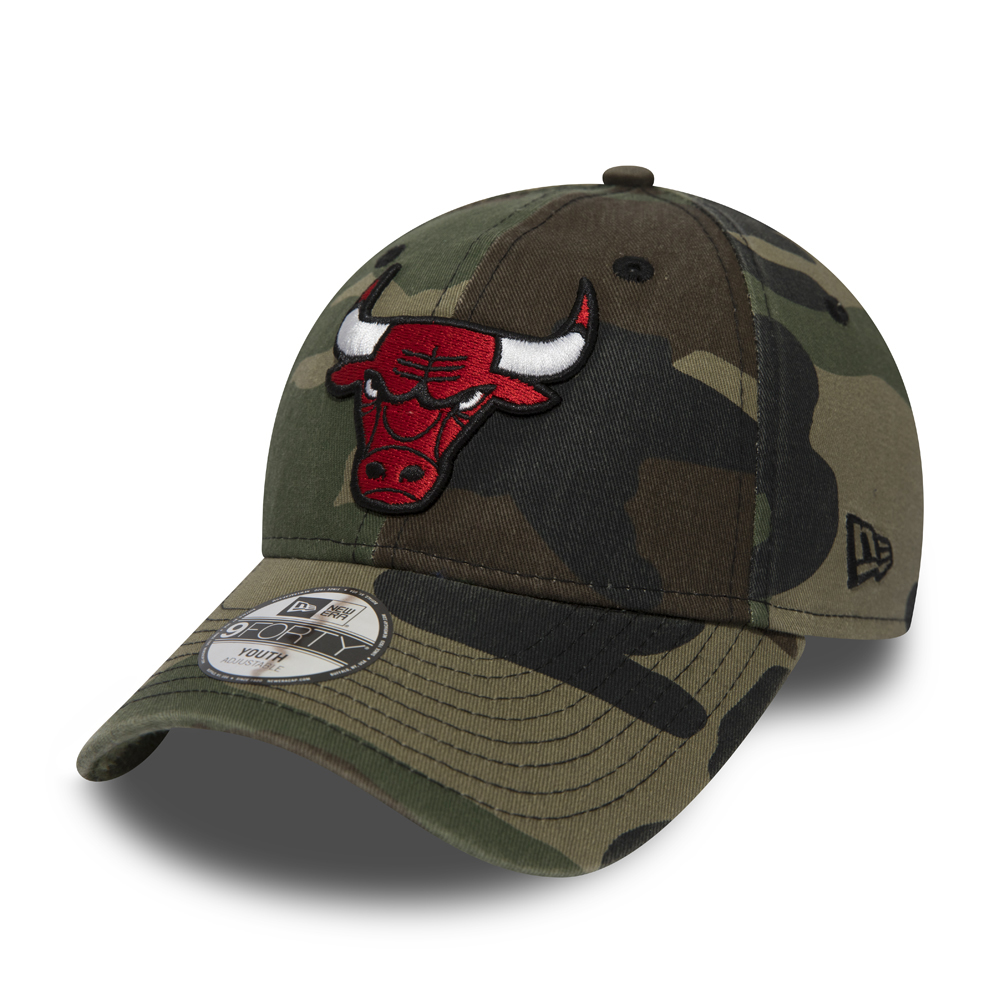 Chicago Bulls Washed Camo Kids 9FORTY