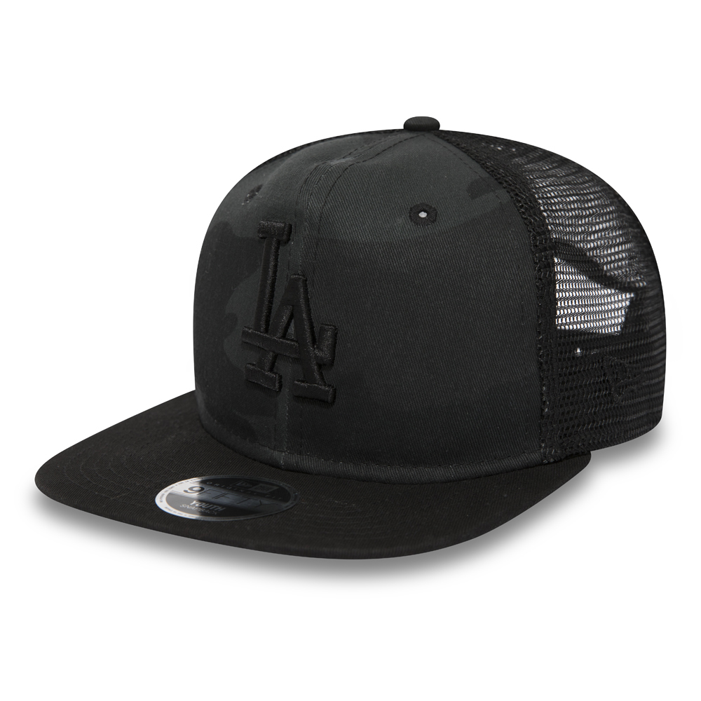 Los Angeles Dodgers Washed Camo Kids 9FIFTY Trucker