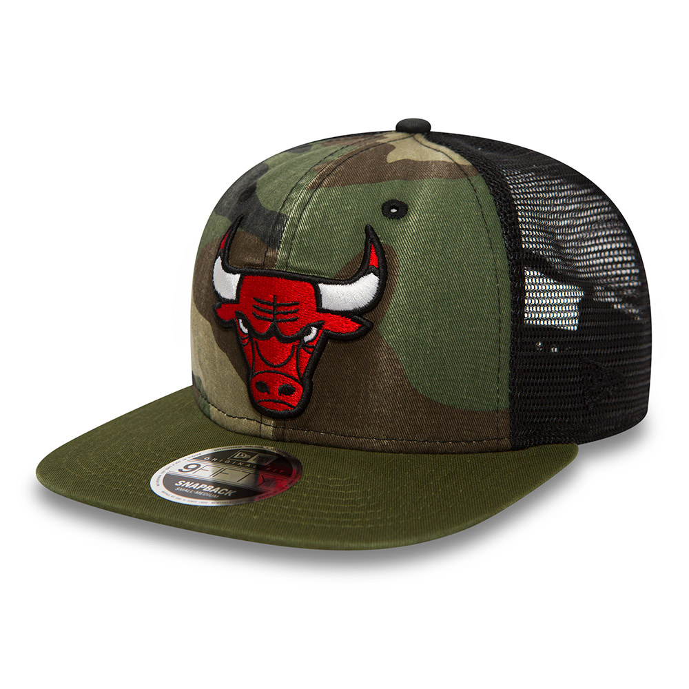 Chicago Bulls Washed Camo 9FIFTY Trucker