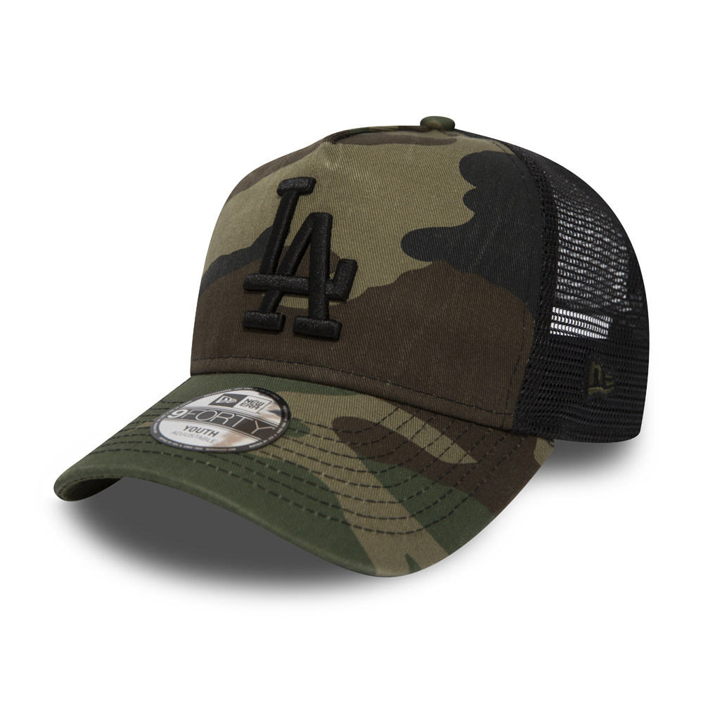 Los Angeles Dodgers Washed Camo Kids A Frame Trucker
