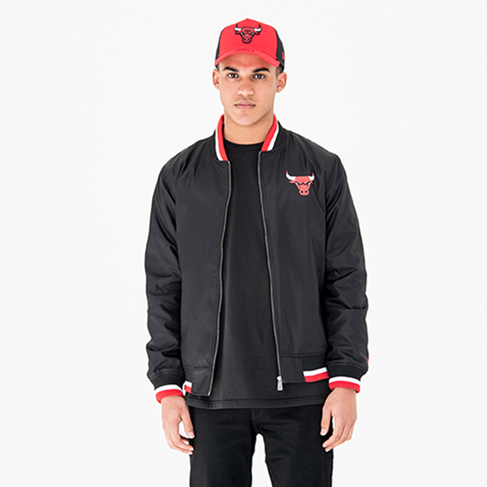 Chicago Bulls Team Black Varsity Jacket