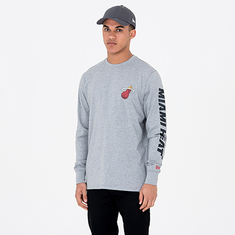 Miami Heat Team Grey Long Sleeve Tee