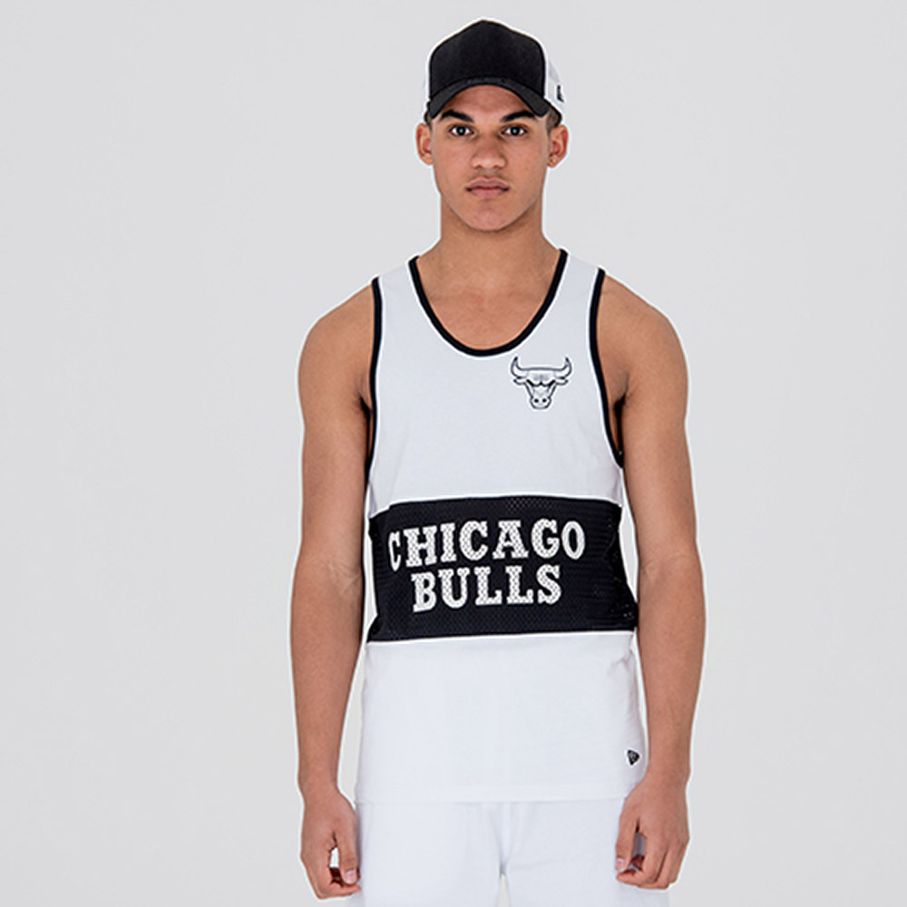 Chicago Bulls Team White Mesh Tank