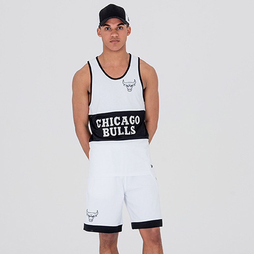 Chicago Bulls Team White Mesh Shorts