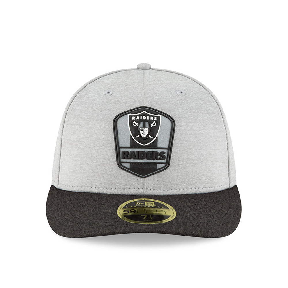 online store a5a43 7bda1 Oakland Raiders 2018 Sideline Away Low Profile 59FIFTY