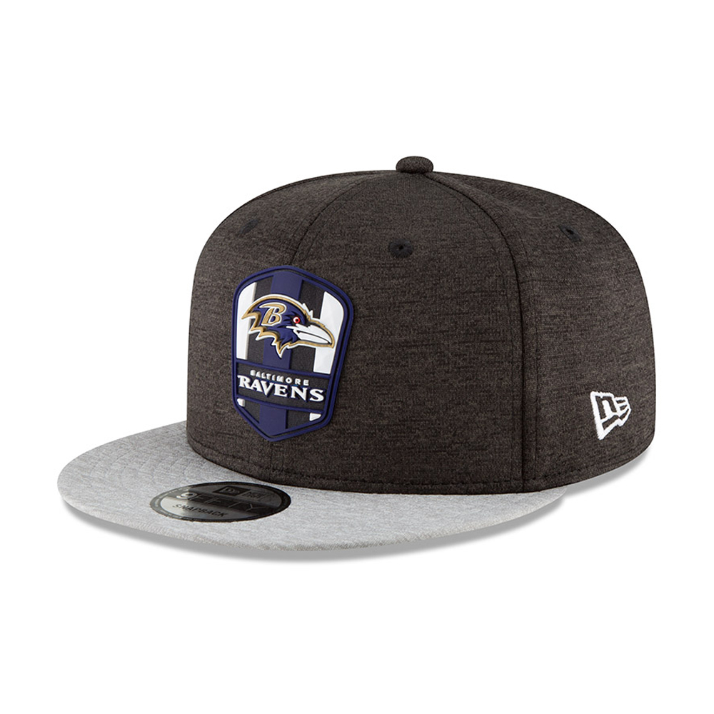 974092f24 Baltimore Ravens 2018 Sideline Away 9FIFTY Snapback