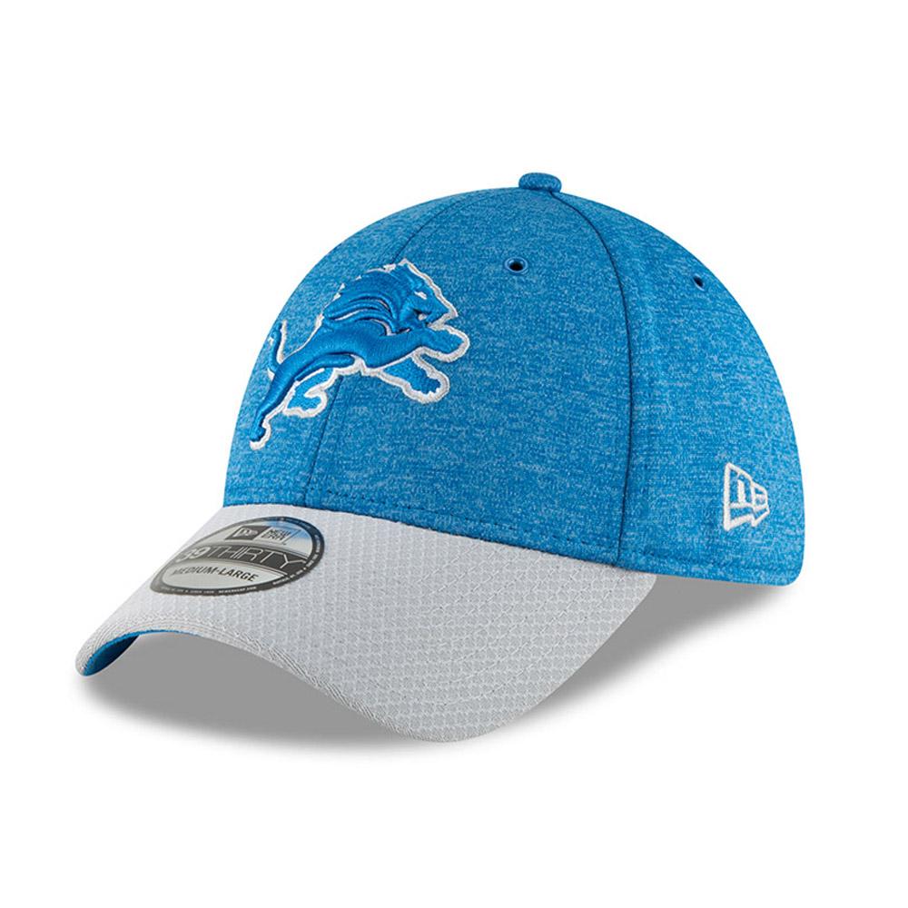 Detroit Lions New Era NFL 2018 Sideline 39THIRTY Stretch-Fit Curved Hat Black