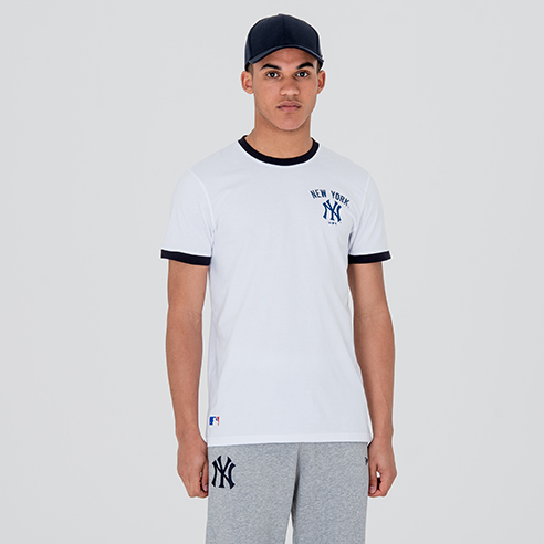 New York Yankees University Club Logo White Tee