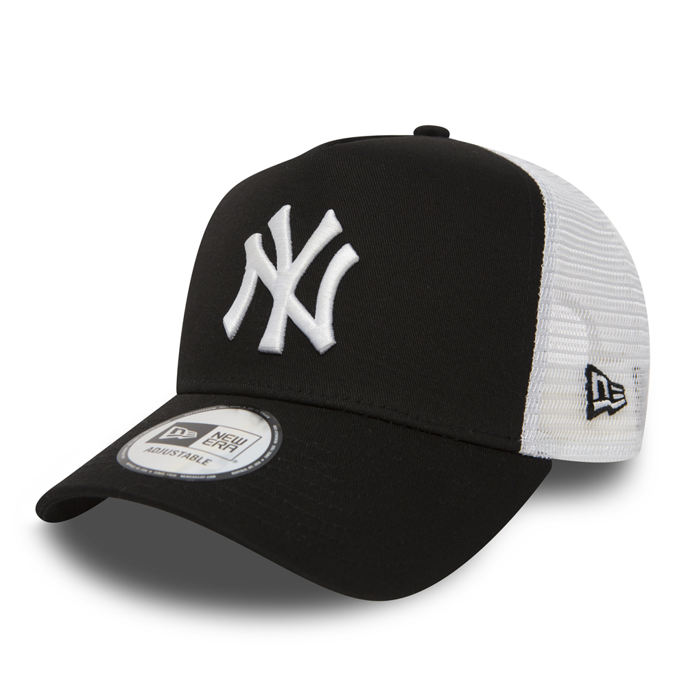 NY Yankees Clean A Frame Black Trucker  ad1cbc388981