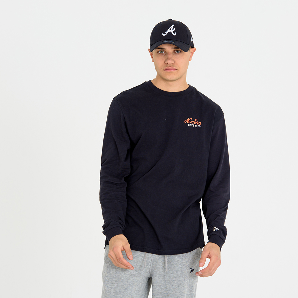 New Era Navy Long Sleeve Tee