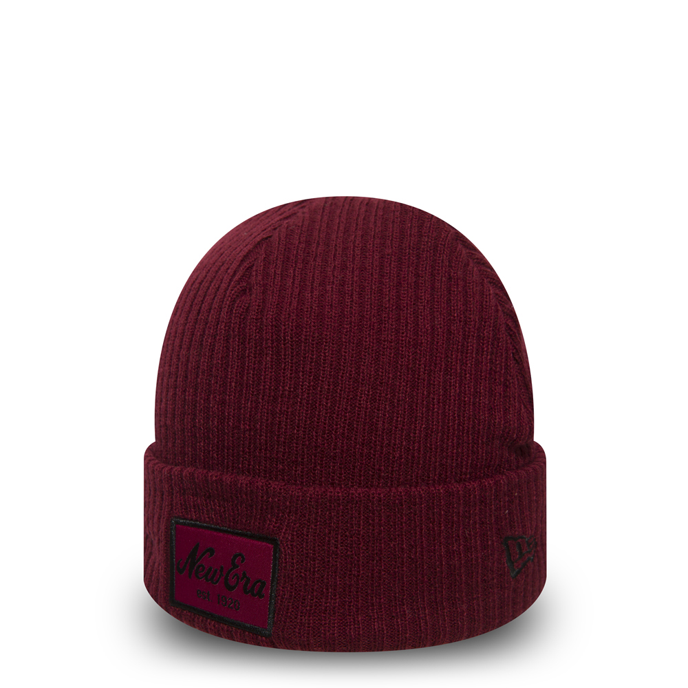 New Era Script Winter Utility Red Cuff Knit